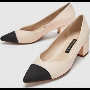Zara Two Tone Block Heels